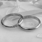 De kant van de trouwring